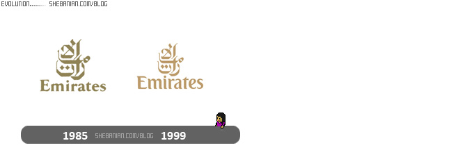 Emirates logo evolution